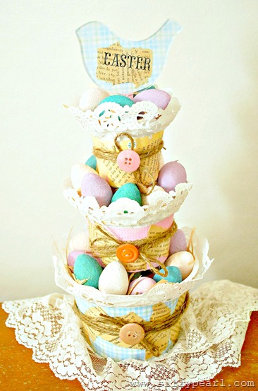 Tiered Easter Basket Using Yogurt Cups