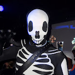 matt as bodysuit skeleton in Mississauga, Ontario, Canada