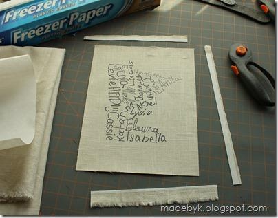 BagK printing on fabric