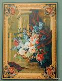 Gobelin 9040, Bouquet et architecture, 150x110cm