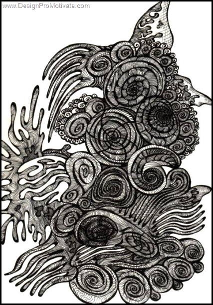 coral flow organic drawing