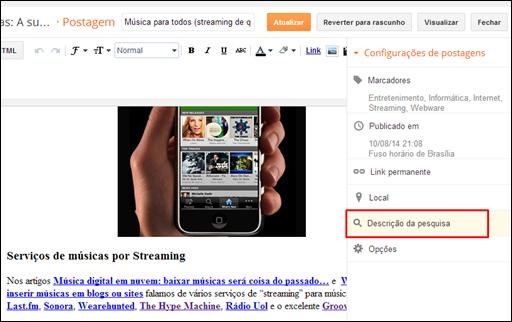 Como definir metatags diretamente no Blogger - Visual Dicas'