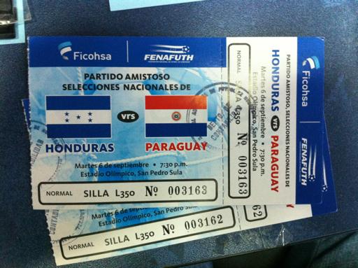 Amistoso Internacional Honduras vs Paraguay