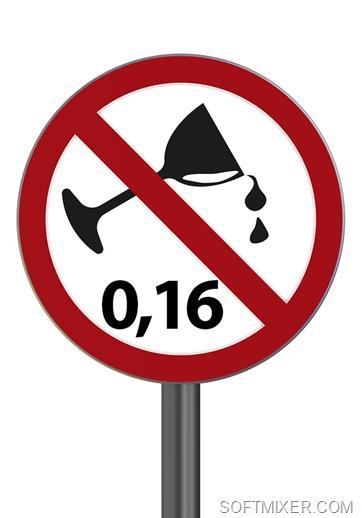 Дорожный знак полностью запрещающий употребление алкоголя водителем