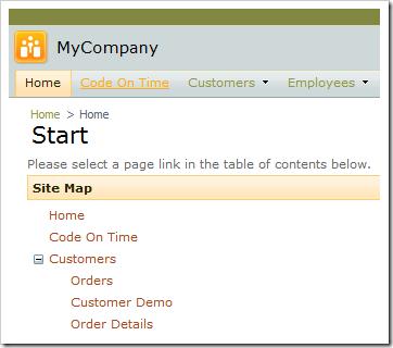 Code On Time navigation menu option is displayed.