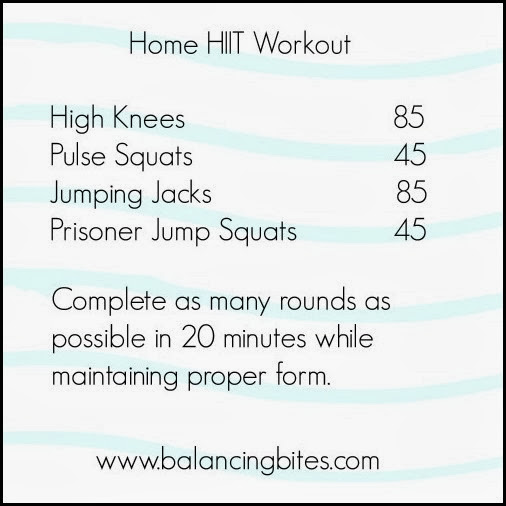Balancing Bites Home HIIT Workout