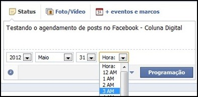 Como agendar post no Facebook