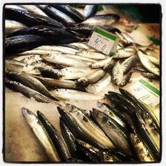 Small fish at la Boqueria