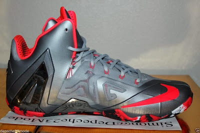 nike lebron 11 ps elite silver crimson camo 1 08 Nike LeBron XI PS Elite Wolf Grey Initial Drop in April for $275