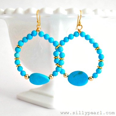 Beaded Hoop Earring DIY by The Silly Pearl