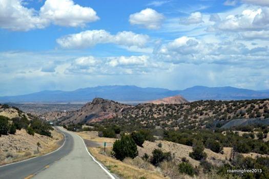 Driving through the Sandia Mountains
