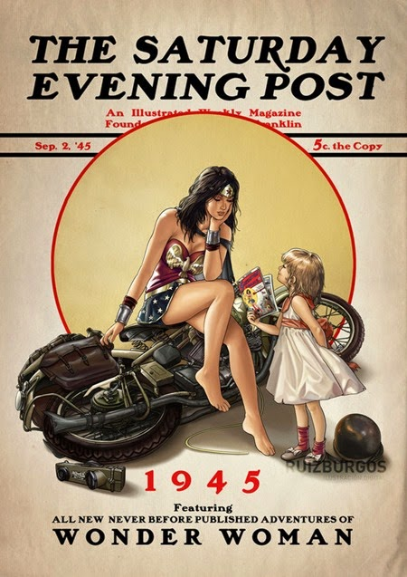 Saturday Evening Post - Wonder Woman 1945 by OnlyMilo