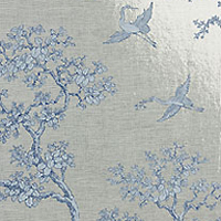 An elegant pattern on a Mylar base makes this design a modern twist. walnutwallpaper.com)