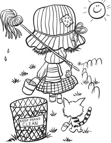 menina-limpeza-desenhos-colorir