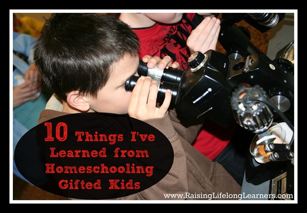 10 Things I've Learned from Homeschooling Gifted Kids