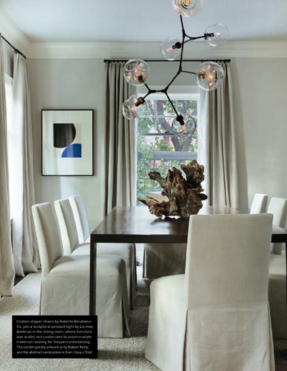 Classic House via La Dolce Vita | Lindsay Adelman Chandelier