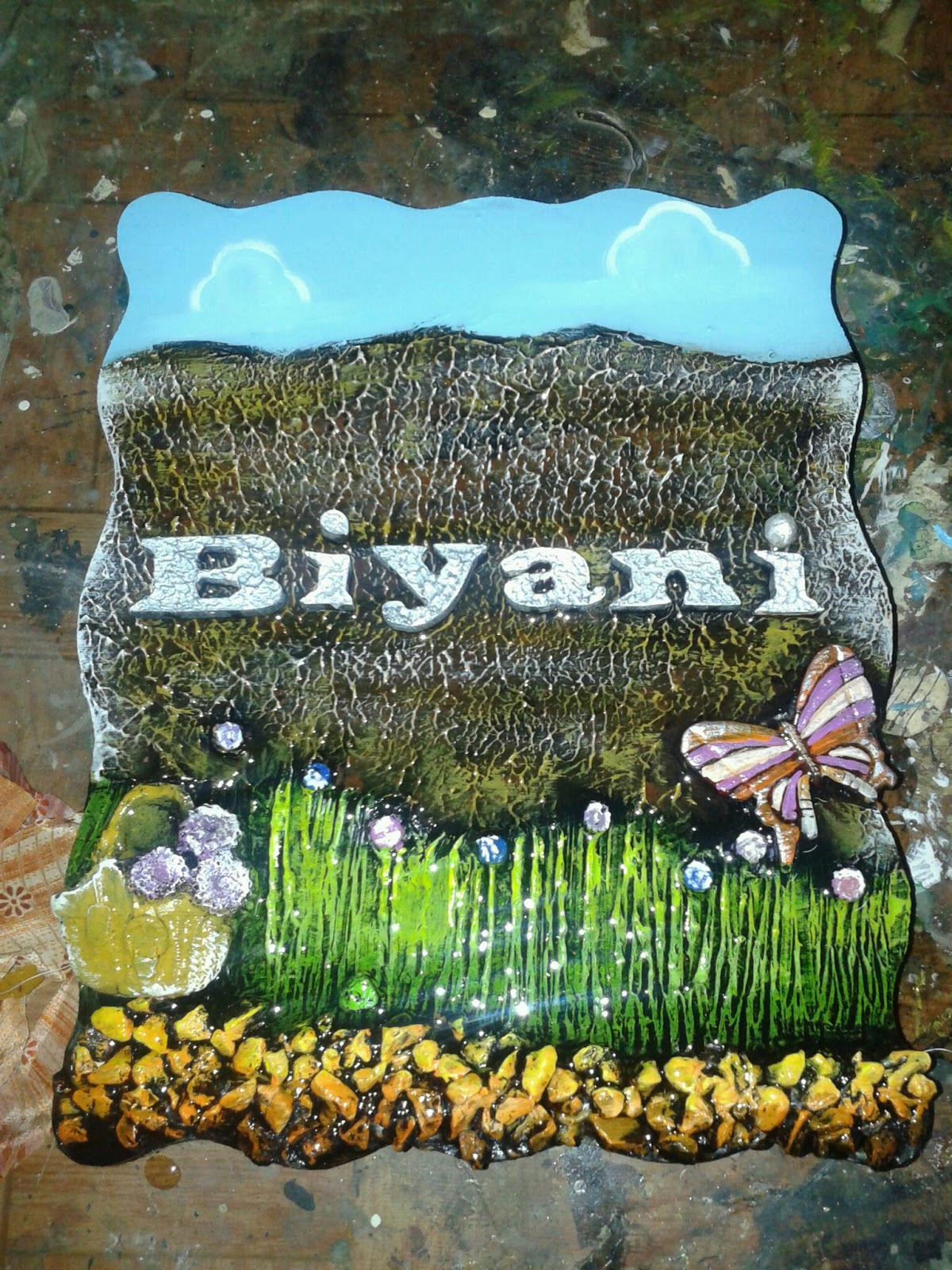 Name plate gayatri arts for Mural name plate