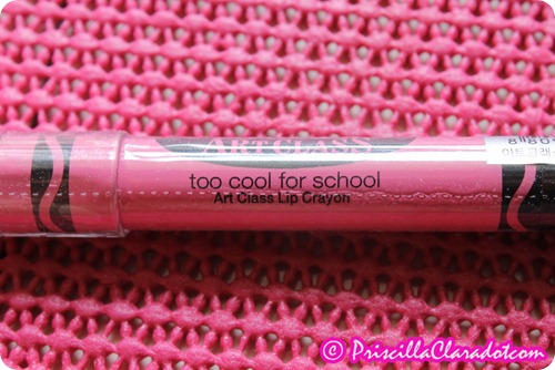 Priscilla review Too Cool For School lip crayon4