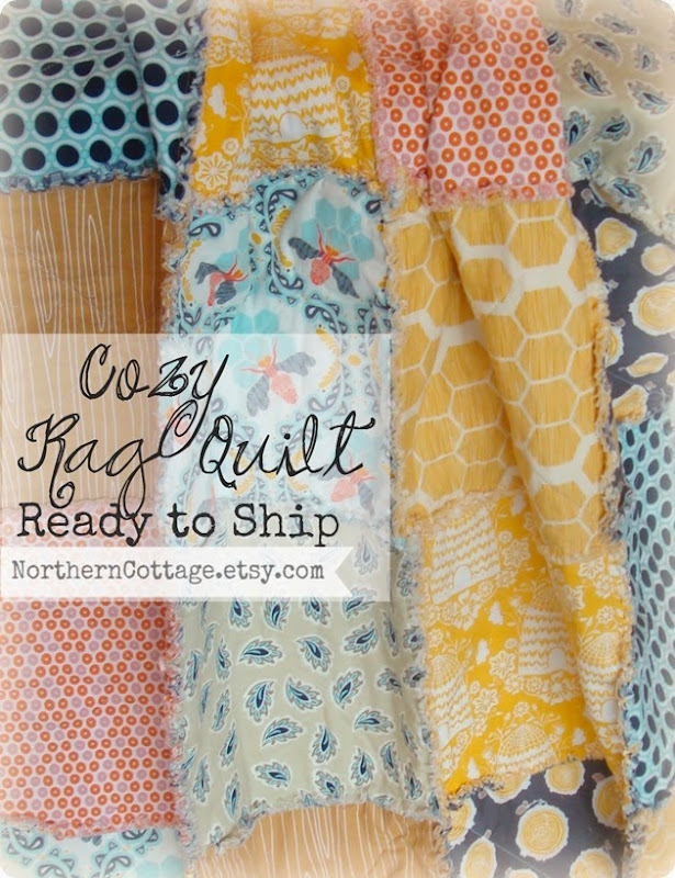 {NorthernCottage} cozy rag quilt rts