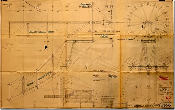 LZ 129-LZ 130 bow blueprint
