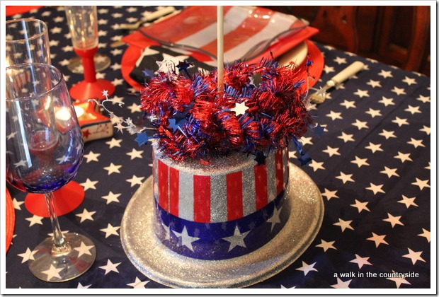 diy balloon topiary for 4th of july