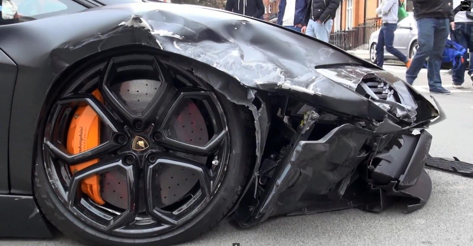 Tema Lamborghini Aventador impacta contra 2 coches en Londres