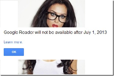 google reader closing date
