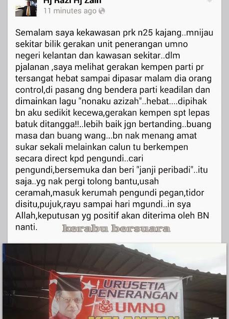 #azizah4kajang: Luahan Hati Pemimpin Umno Kelantan Semasa Berkempen Di Kajang