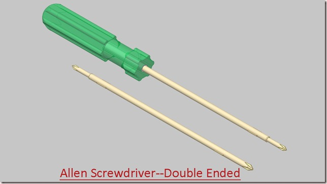 Allen Screwdriver--Double Ended
