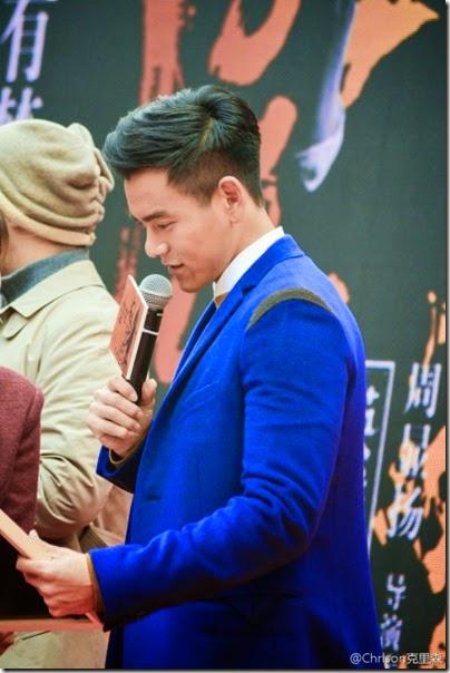 2014.11.12 Eddie Peng during Rise of the Legend - 彭于晏 黃飛鴻之英雄有夢 上海 - 主題曲MV首發 05