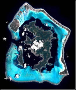 Bora Bora from space