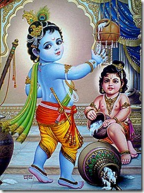 Krishna and Balarama playing