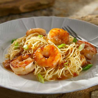 Chili Garlic Shrimp with Sesame Noodles