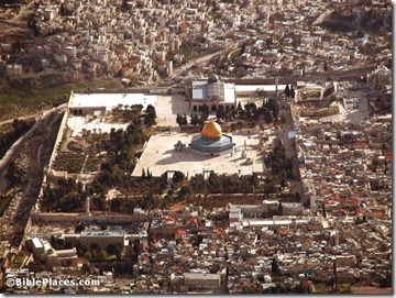 Temple Mount aerial from north, tb010703228