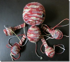 Voo do you love me zombie - knitting complete