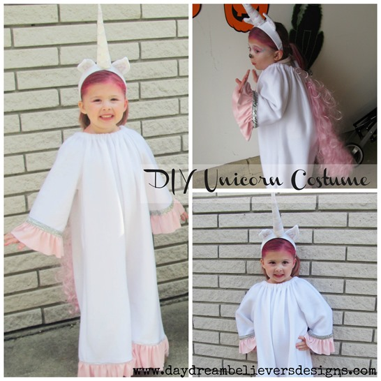 diy unicorn costume handmade halloween from daydream believers designs