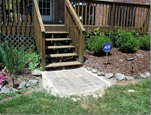 Stone Patio Landing 027. The DIY ...