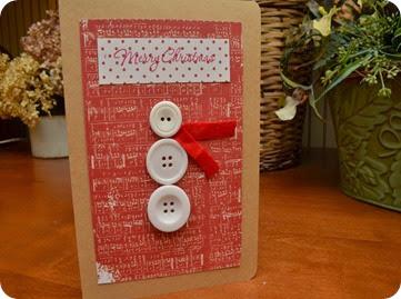 button snowman christmas