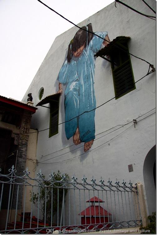 Penang Street Art  Hand Painted Wall Murals by CK Lam @Penang365.com
