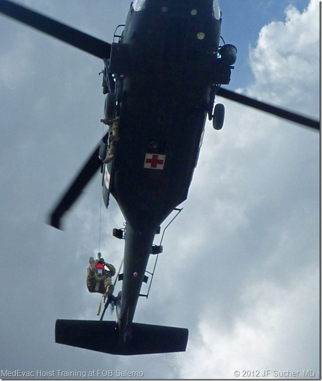 MedEvac Hoist Training at FOB Salerno