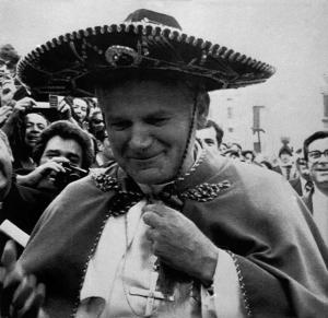 **FILE**Pope John Paul II wears a typical Sombrero