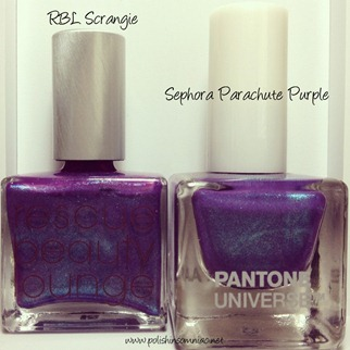 RBL Scrangie vs Sephora Parachute Purple