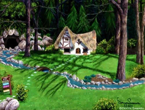 """Dwarfs' Cottage"", by Devyn Samara 2011"
