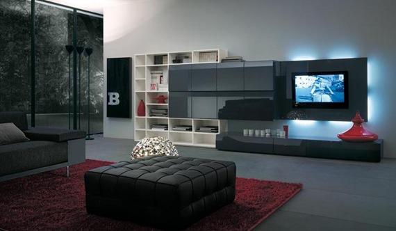Mueble de TV negro