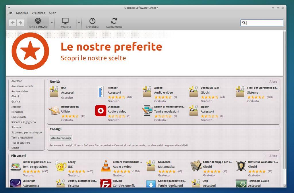 Xubuntu 14.04 - Ubuntu Software Center