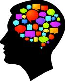 Silhueta com balões de pensamento (Marish em Shutterstock.com)