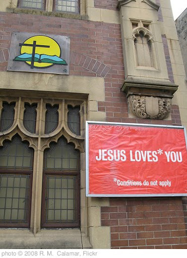 'Jesus Loves* You' photo (c) 2008, R. M.  Calamar - license: http://creativecommons.org/licenses/by/2.0/