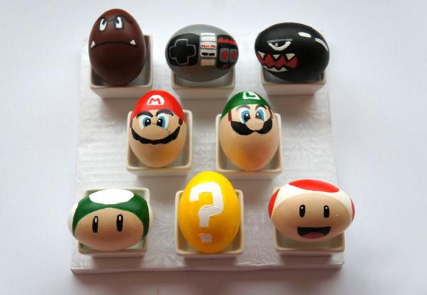 Mario bros oeufs de pâques