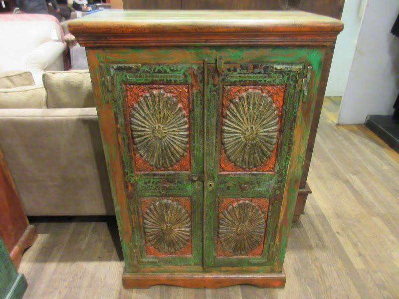 Indian Floral Armoire
