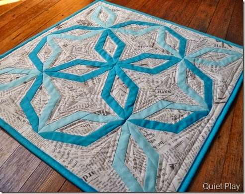 Quilting on Something Blue DWR Challenge Quilt